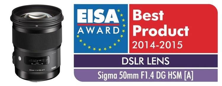 EISA лучший объектив Sigma 50mm F1.4 DG HSM Art