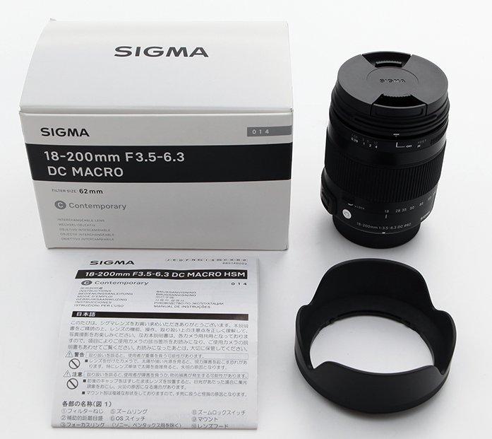 Комплект Sigma 18-200mm F3.5-6.3 MACRO OS HSM C