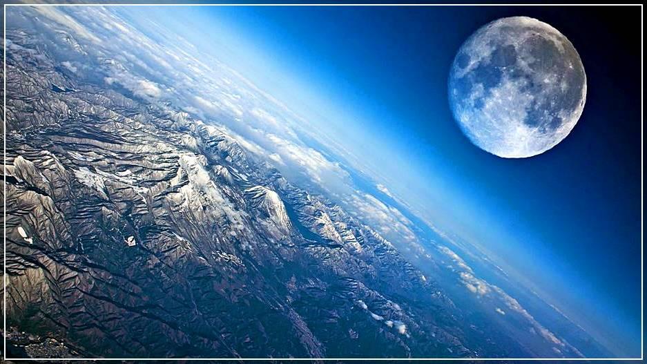 Фотография луны со спутника