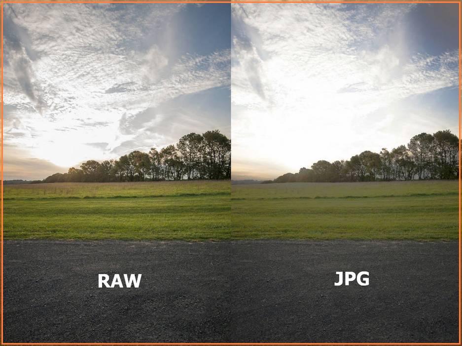 Формат изображения Raw или JPG