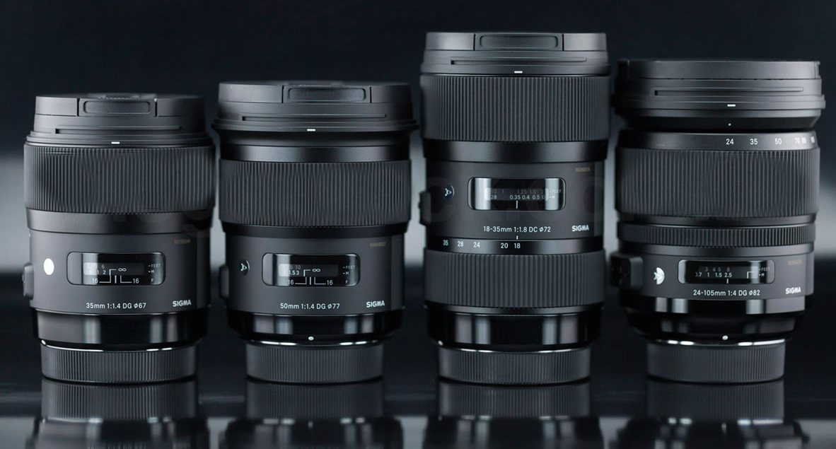 Sigma 135mm F/1.8 Art,  14mm F/1.8 Ar, 24-70/2.8 Art