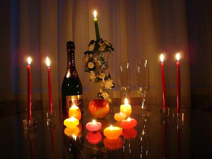 Фотография при свечах