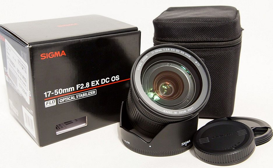 sigma 17-50mm фото объектива и комплекта